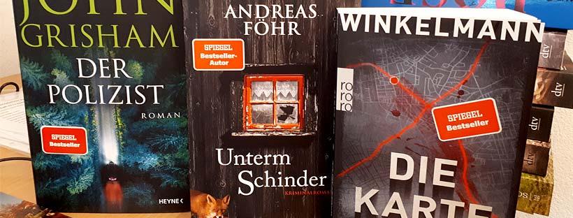 Für Krimi- und Thriller-Leser: 3 neue Bestseller